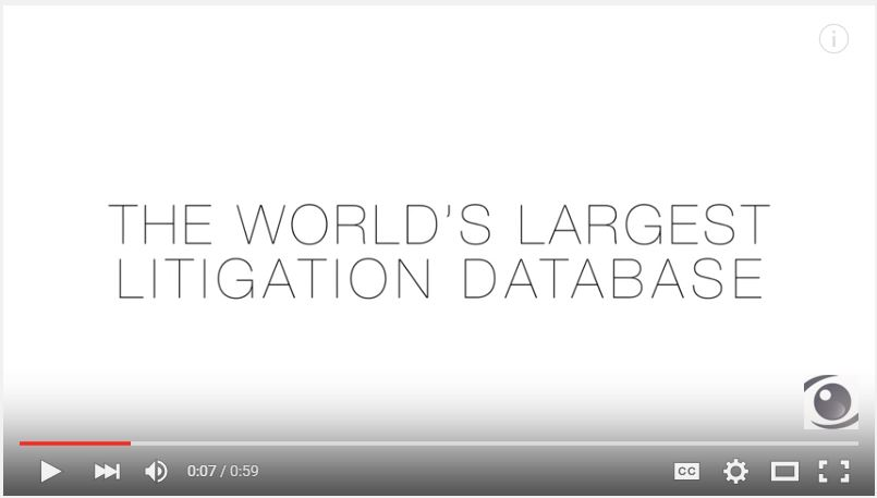 The World's Largest Litigation Database