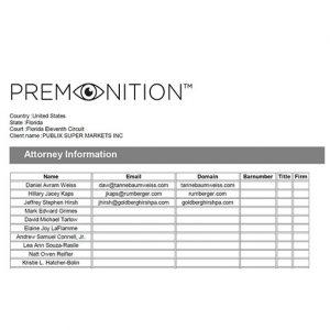 Premonition Big Data Analytics