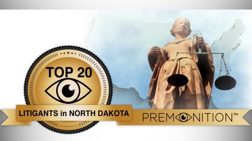 Premonition Analytics Report Names Gary A. Ficek North Dakota's Busiest Lawyer