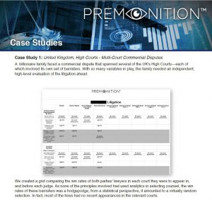 Premonition Case Studies