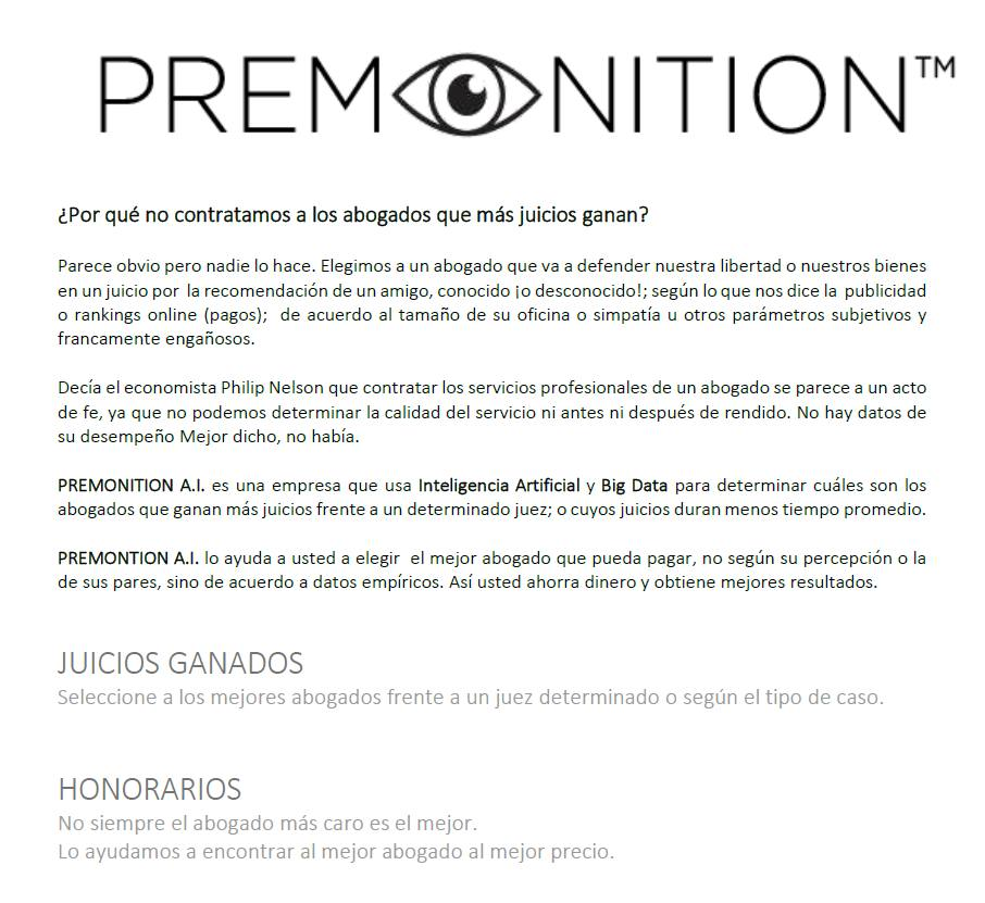 premonition analytics court reports products