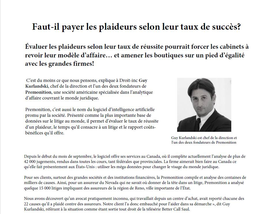 Should I pay the litigants according to their success rate? (French)