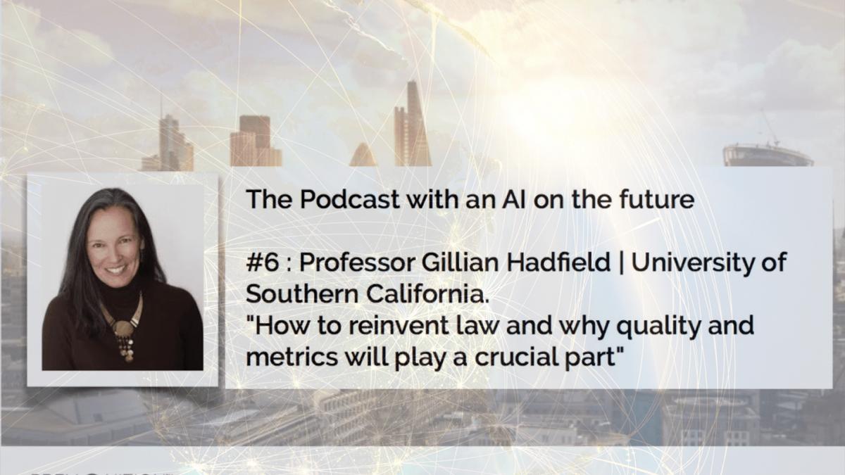 Premonition podcast with Professor Gillian Hadfield